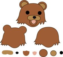 Pedobear pillow pattern by Mokulen22