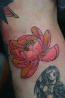 Lotus on Myself by Lucky-Cat-Tattoo