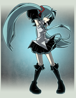 Rock Out, Miku by CubeWatermelon