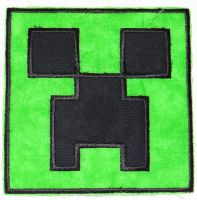 Creeper Iron On Patch by quiltoni