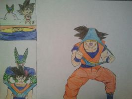 Goku Wedgie by Xaldin777