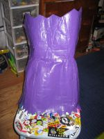 Duct tape dress Front by Brutechieftan