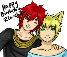 Birthday gift for Rin-chan by GriellaAnime