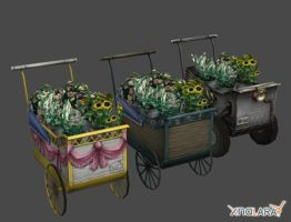 Crisis Core - Aerith's Flower Wagon Pack by xHolyxLightx