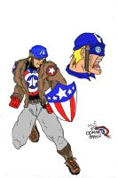 Cap.America by Brasco color by ComandanteBrasco