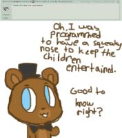 Ask five nights at cuties [4] by Cookie-and-her-foxes