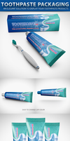 Toothpaste Packaging Mock-up by idesignstudio