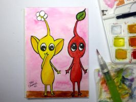 Pikmins plants by TaliShemes