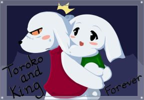 Toroko and King forever by onlineworms