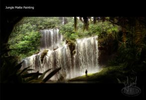 Jungle Matte Painting - Large by PixelRave