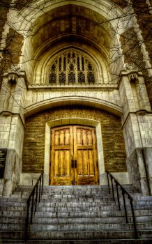 Church Steps HDR by joelht74