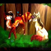 :COLLAB: Butterfly Chasing by chillis-art