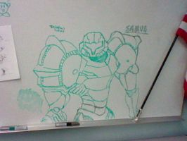 Samus Drawing by Omnimon1996