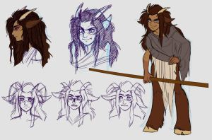 Andi Concept Sketches by CrescentVenus