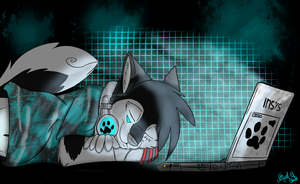 Sleeping with my laptop by Guiga360