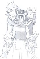Ash and his female shippings by Fluna