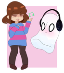 frisk and blooky by pastelfrisk