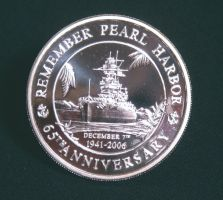 Pearl Harbor Anniversary Coin by ElementalChainmaille