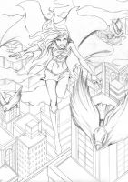 Supergirl in Flight by phoenix-84