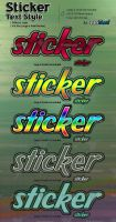 Sticker Text Photoshop Styles by kh2838