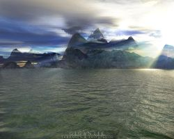 Terragen - Gigantic by tigaer