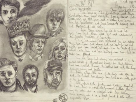 Supernatural Journal - The Winchester brothers by Laurenthebumblebee