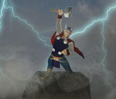 The God of Thunder! by kevmann