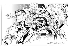 Fantastic Four Alan Davis by Inhuman00