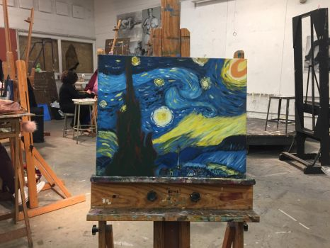 Master  Copy: A Starry Night by Vincent Van Gogh by MrSlin