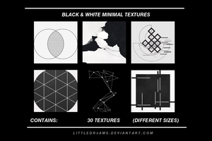 BLACK AND WHITE MINIMALIST TEXTURES by LittleDr3ams