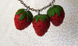 Strawberry Charm Pendants by Kyle-Lefort