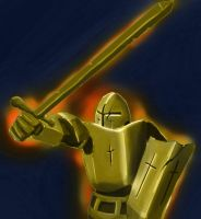 Golden Knight by ineedpractice