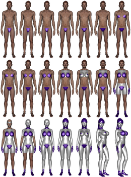 Simplified Gynoid MtF transformation sequence by NukuNookee