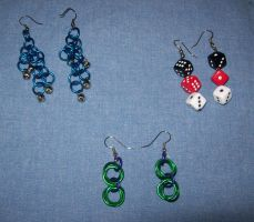 Chainmail Earrings by BardicKitty