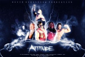 WWE attitude era poster by nlove4ever