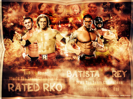 The Tag Team Champions ~ Wallpaper by MhMd-Batista