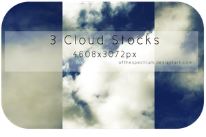 3 Cloud Stock Images by ofthespectrum