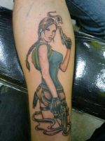 My Lara Croft Tomb Raider Tattoo by MXSAVN31
