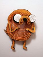 Paper Quilling - Adventure Time - Jake the Dog by wholedwarf