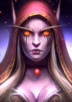 Morning Sketching - ep 045 - Sylvanas by RogierB
