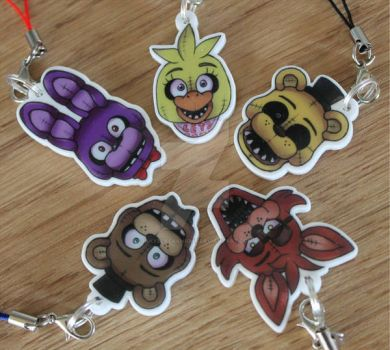 Five Nights at Freddys Charm Straps *FOR SALE!* by InkyBlackKnight
