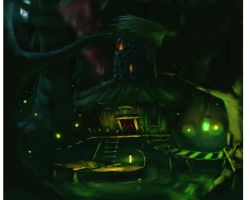 Creepy Swamp Hut by BeaksMonster