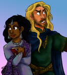 Eomer and Lothiriel by goffietwerb
