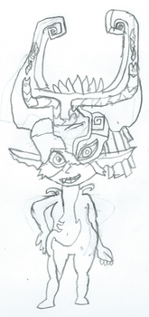 Midna Drawing Attempt by JacktheCat779