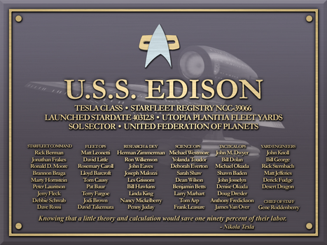 USS Edison Plaque by LordTrekie