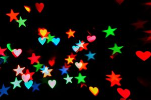 Heart + Star Bokeh Texture 3 by LDFranklin