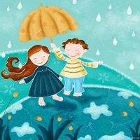 walking in the rain by libelle