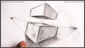 How to draw two point perspective 025 by drawingcourse