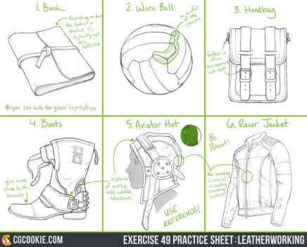 Exercise 49 Practice Sheet: Leatherworking by CGCookie