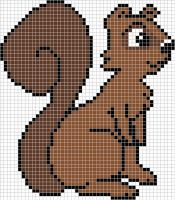 Squirrel cross stitch pattern by Santian69